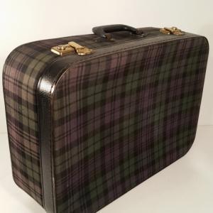 1 valise ecossaise violet