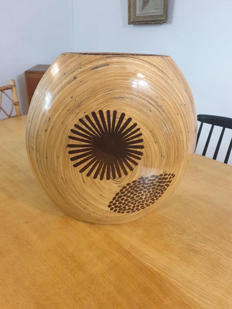 1 vase en bambou
