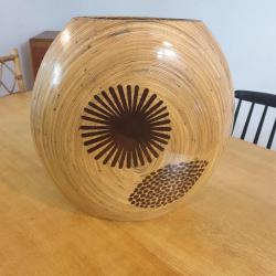 Vase en bambou