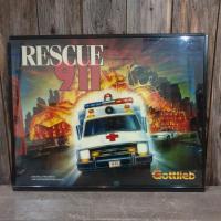 1 vitre de flipper rescue 911