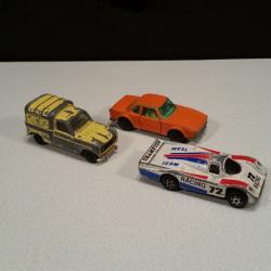 Lot de 3 voitures