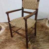 10 fauteuil bois corde
