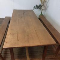 11 table de ferme avec 2 bancs