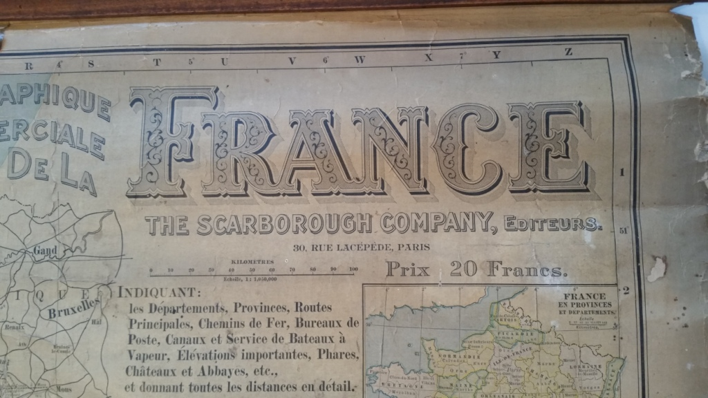 15 carte de france entoilee