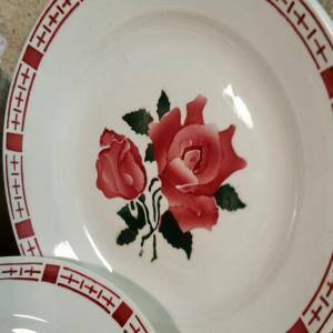 2 6 assiettes plates saverne chocs