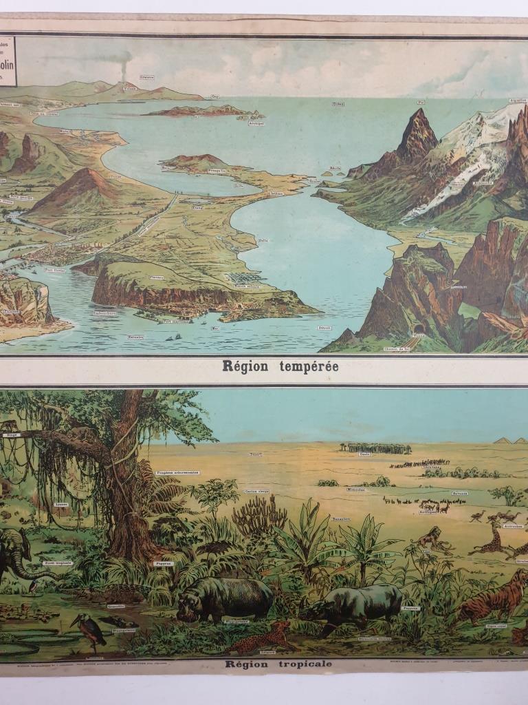 2 affiche d ecole armand colin les region