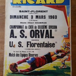 2 affiche foot ricard orval