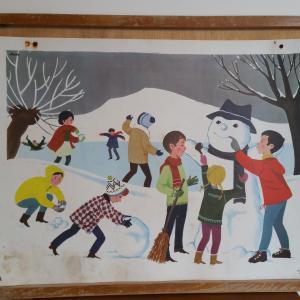 2 affiche hiver boule de neige hiver
