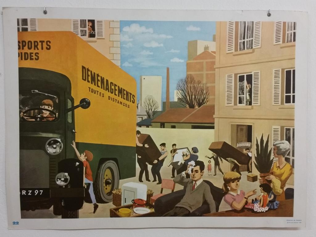 2 affiche scolaire 1967 21 et 22