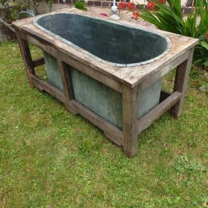 2 baignoire cuivre et bois