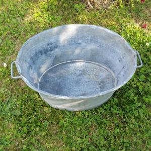 2 bassine en zinc