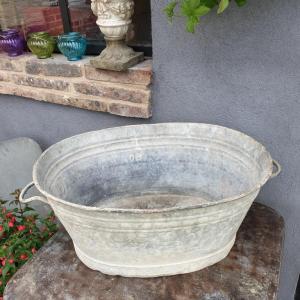 2 bassine oval en zinc