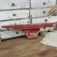 2 bateau de bassin coque rouge