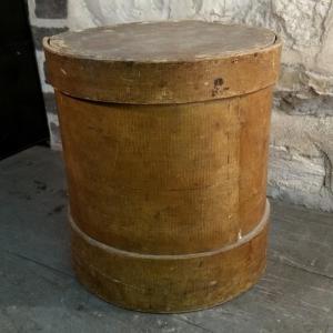 2 boite ronde en bois