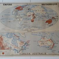 2 carte union francaise empire britanique canada australie