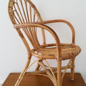 2 chaise osier enfant