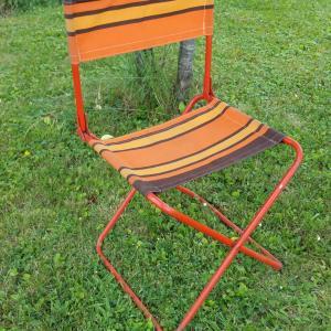 2 chaise pliante orange
