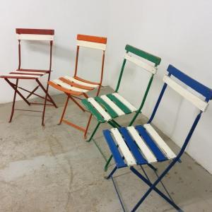 2 chaises de guinguettes