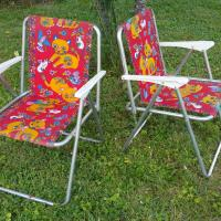 2 chaises enfant camping