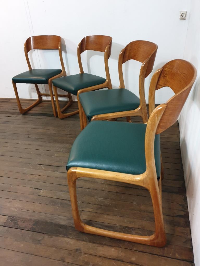 2 chaises traineau baumann