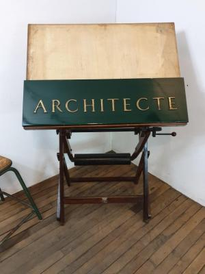 Enseigne d'architecte