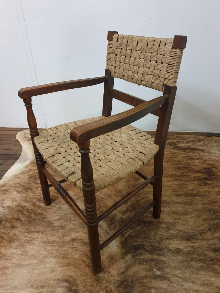2 fauteuil bois corde
