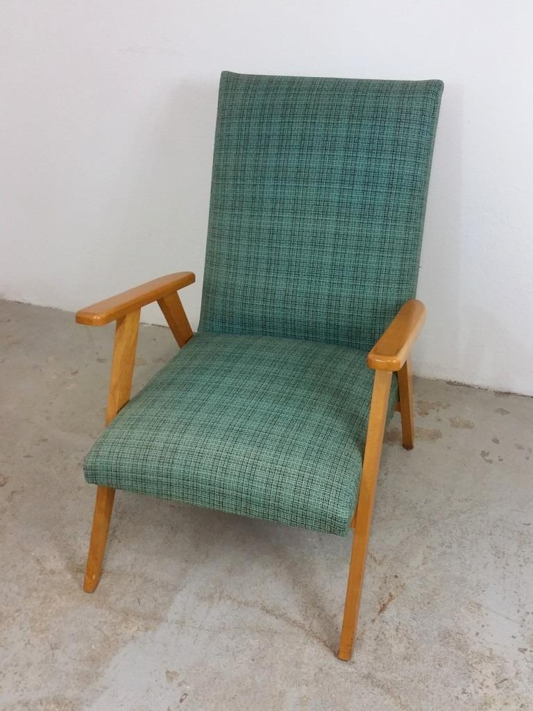 2 fauteuil scandinave vert