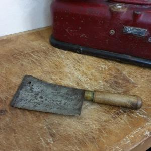 2 feuille de boucher hachoir