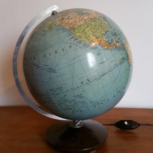 2 globe terrestre lumineux magelan
