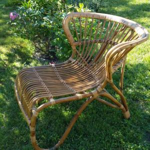 2 grand fauteuil en osier