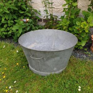 2 grande bassine en zinc