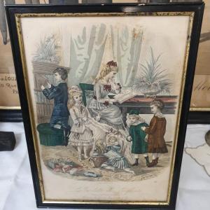 2 gravure mode 1900 les toilettes des enfants