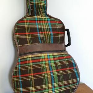 2 housse de guitare tissu ecossais