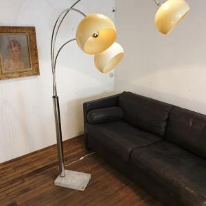 2 lampadaire arc muguet chrome 70 s