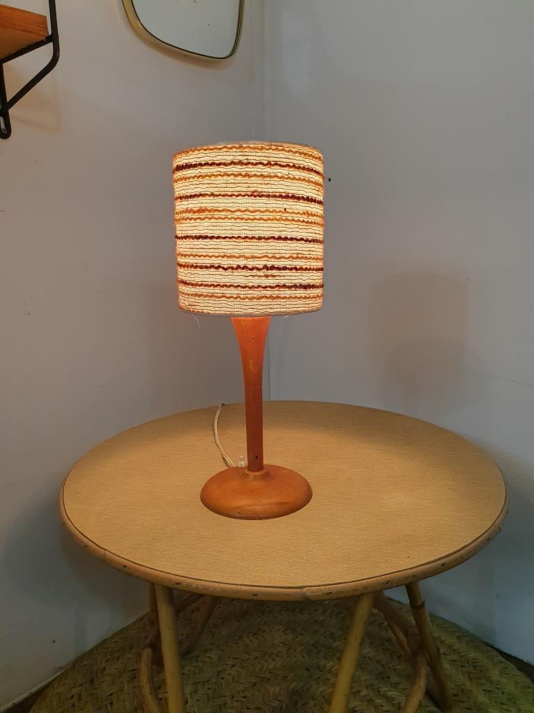 2 lampe bois laine