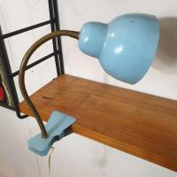 2 lampe cocotte pince bleue