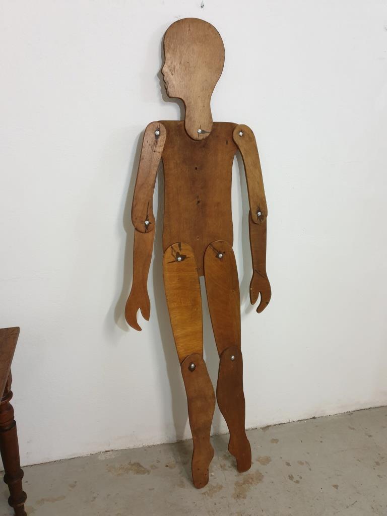 2 mannequin en bois