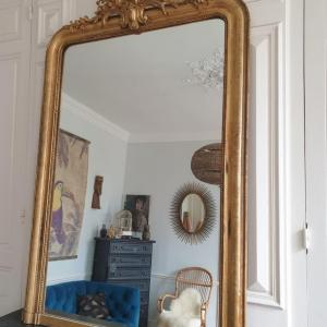 2 miroir dore a fronton