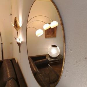 2 miroir laiton grand diametre 1 metre