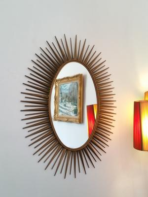 2 miroir oval chaty vallauris