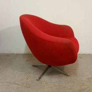 2 paire de fauteuils rouges