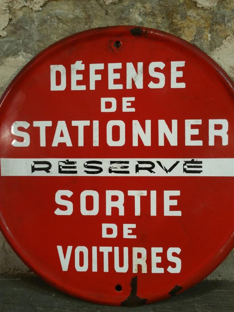 2 panneau defense de stationner