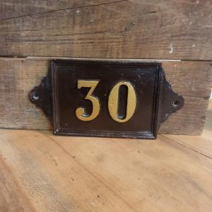 2 plaque de rue 30