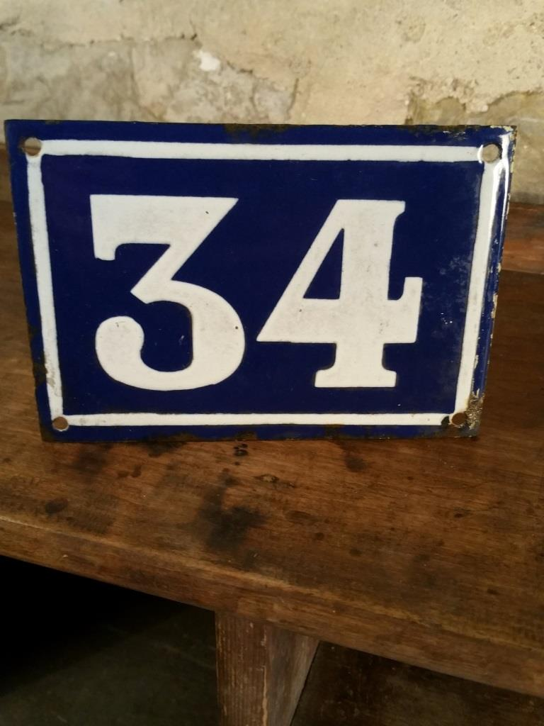 2 plaque de rue 34