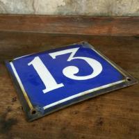 2 plaque de rue n 13