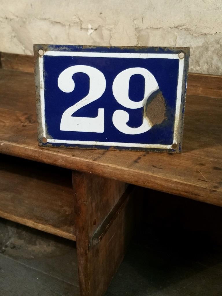 2 plaque de rue n 29