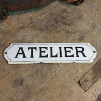2 plaque emaillee atelier