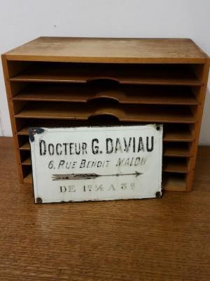 Plaque émaillée Docteur