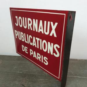 2 plaque emaillee journaux publications de paris