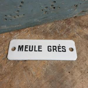 2 plaque emaillee meule gres